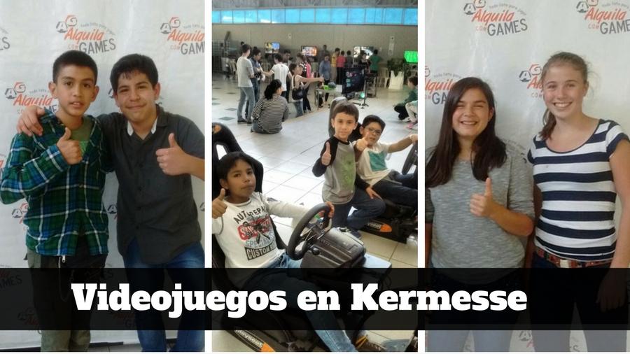 Videojuegos y Simuladores de Autos PRO en Kermesse de colegio