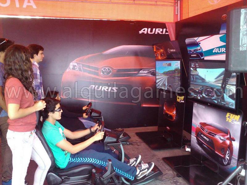 AlquilaGames videojuegos eventos activaciones empresas - Toyota