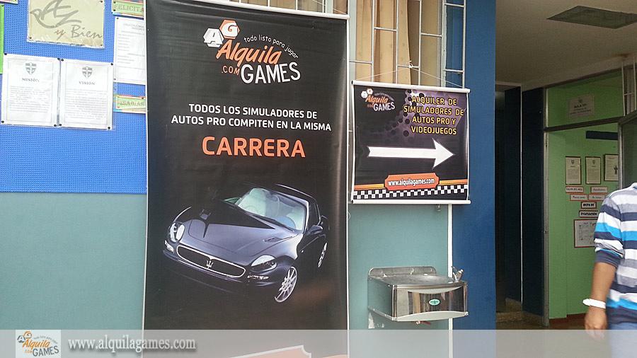 Videojuegos y Simuladores de Autos PRO en Kermesse colegio Cristo Salvador