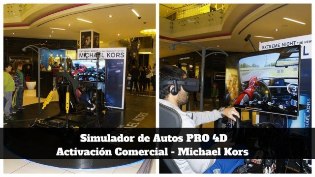 Simulador de Autos PRO 4D con movimiento real y realidad virtual - Michael Kors