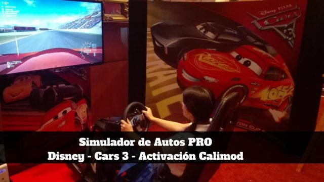 Simulador de Autos PRO con Cars 3 de Disney