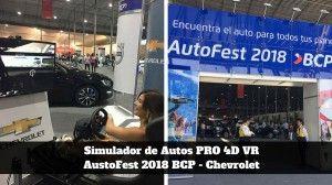 Simulador de Autos PRO 4D - Eventos - AutosFest BCP - Chevrolet