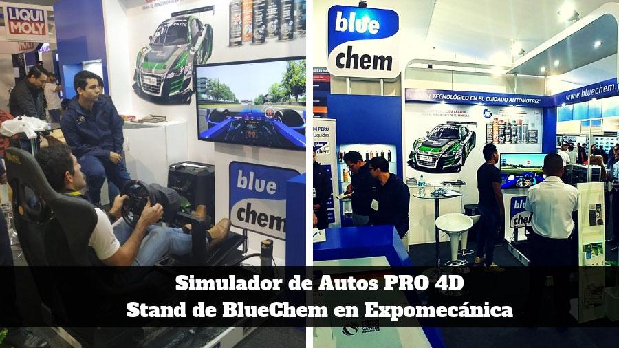 Simulador de Autos PRO 4D para ferias y activaciones empresariales - BlueChemp - Expomecanica